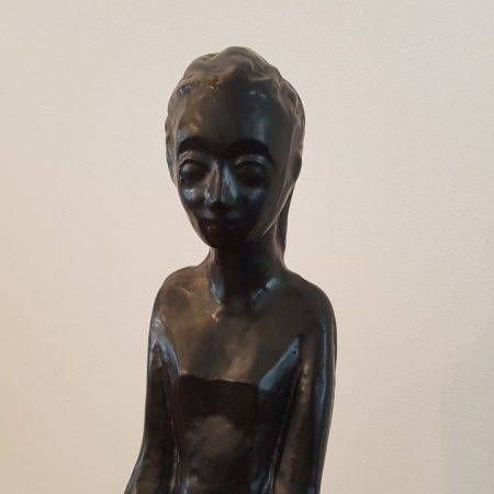 benoit_de_moffarts_sculpture_terre_cuite_femme_enfant_noir_bruxelles_