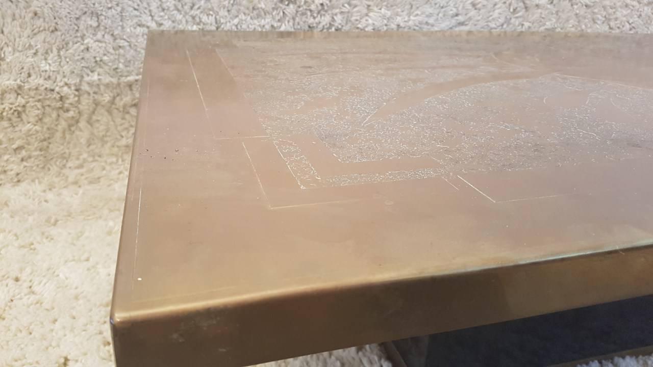 Table basse en bronze 1970 benoit de moffarts vide - Table basse bruxelles ...